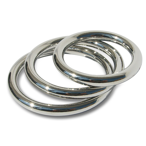 Manbound - Metal Cock Ring 3-pack