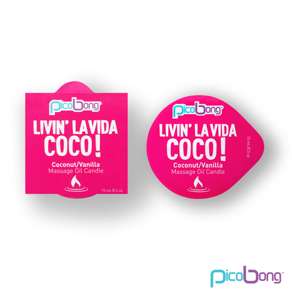PicoBong - Coconut & Vanilla Massage Oil Candle