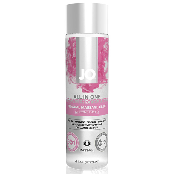 System JO - Massage Glide Strawberry 120 ml