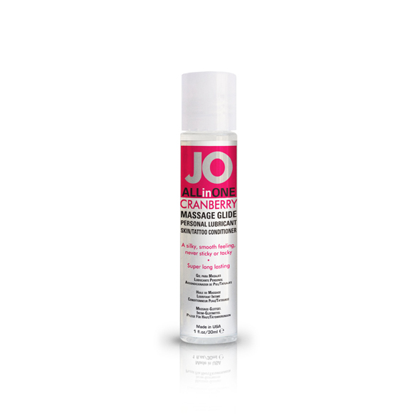 System JO - Massage Glide Cranberry 30 ml