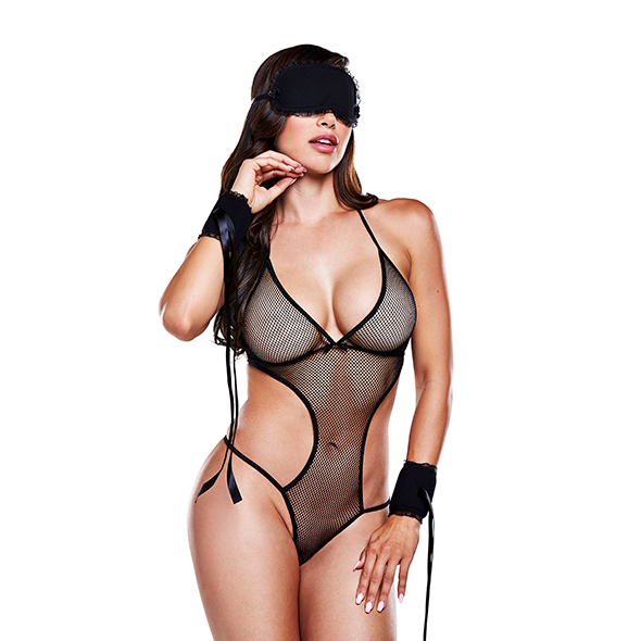 Baci - Love Slave Set Fishnet Black One Size