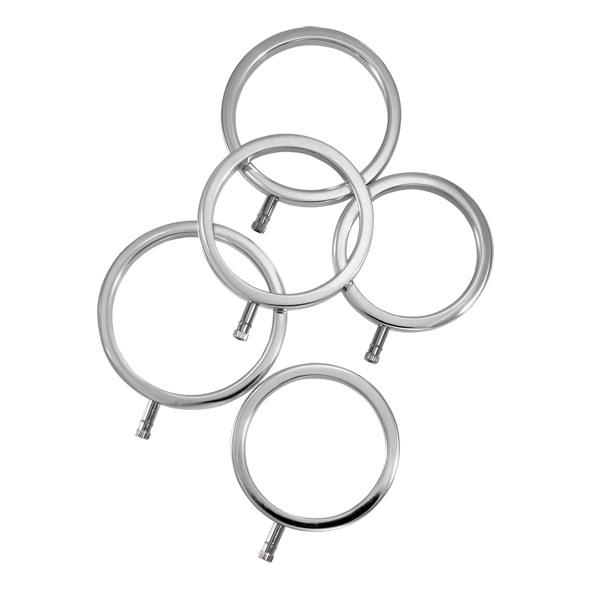 ElectraStim - Solid Metal Cock Ring Set 5 Sizes