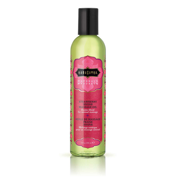 Kama Sutra - Naturals Massage Oil Strawberry Divine 236 ml