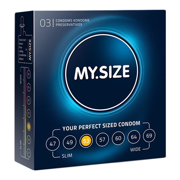 My Size - Natural Latex Condom 53 Width 3 pieces