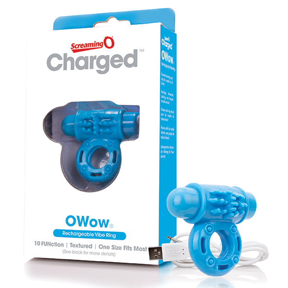The Screaming O - Charged OWow Vibe Ring Blue