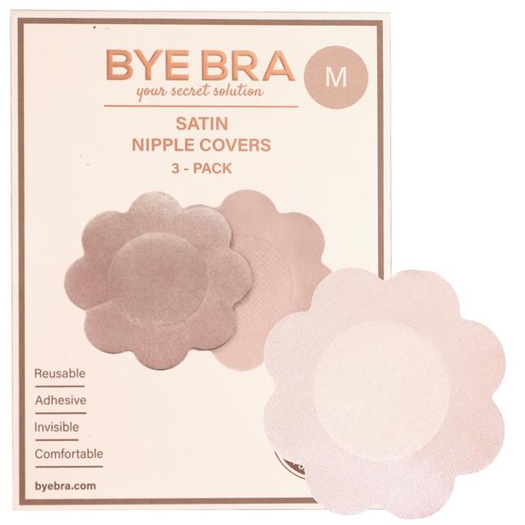 Bye Bra - Silk Nipple Covers Nude 4 Pairs