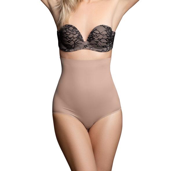 Bye Bra - Invisible High Waist Brief Nude XL