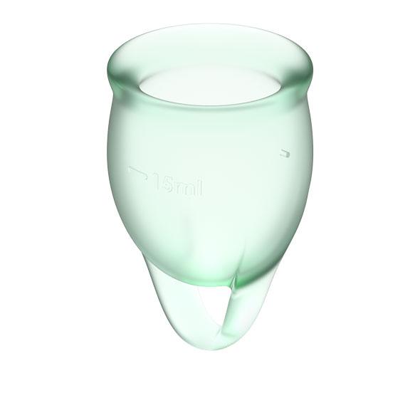 Satisfyer - Feel Confident Menstrual Cup Set Light Green