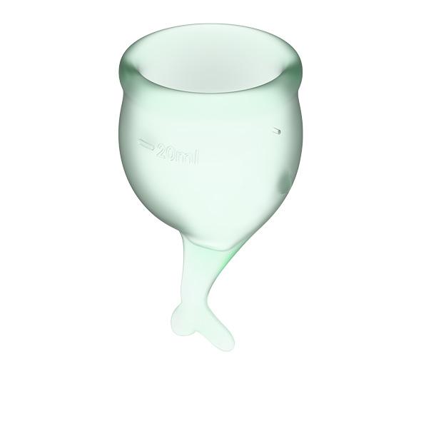 Satisfyer - Feel Secure Menstrual Cup Set Light Green