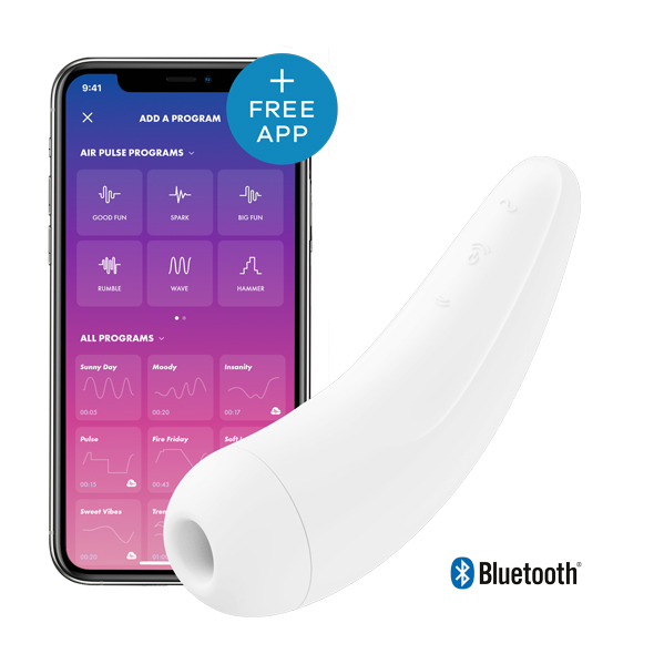 Satisfyer - Curvy 2+ Air Pulse Stimulator + Vibration White