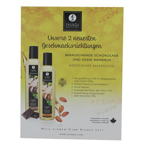 Shunga - Counter Card Organica Oils Deutsch