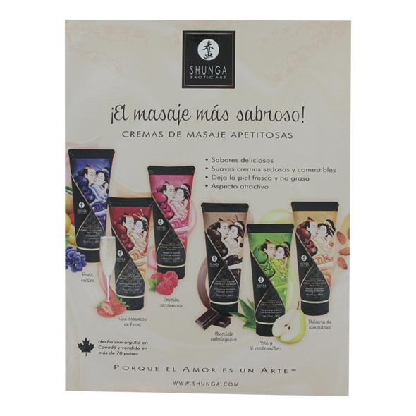 Shunga - Counter Card Massage Cream Spanish
