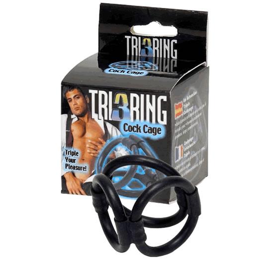 Tri Ring Cock Cage Online Sexshop Eroware Sexshop Sexspeeltjes