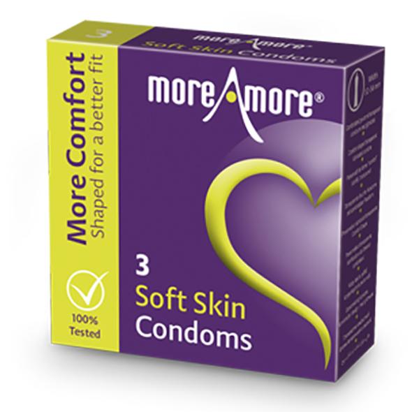 MoreAmore - Condoom Soft Skin 3 st. Online Sexshop Eroware Sexshop Sexspeeltjes