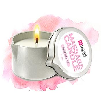 LoversPremium - Massage Candle Pink Flower