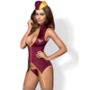 Obsessive - Stewardess Suit Costume Red S/M Sexshop Eroware -  Sexartikelen