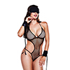 Baci - Love Slave Set Fishnet Black One Size Sexshop Eroware -  Sexartikelen