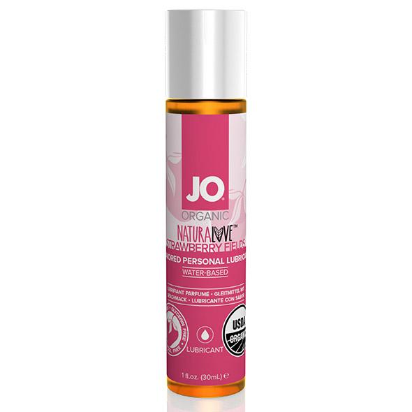 System JO - NaturaLove Organic Lubricant Strawberry 30 ml Online Sexshop Eroware Sexshop Sexspeeltjes