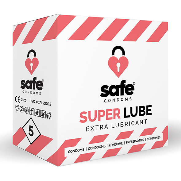 Safe - Super Lube Condooms Extra Glijmiddel 10 stuks Online Sexshop Eroware Sexshop Sexspeeltjes