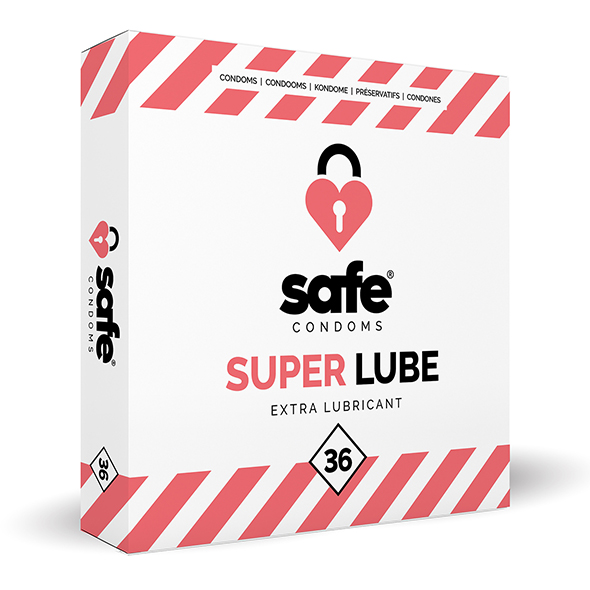 Safe - Super Lube Condoms Extra Glijmiddel 36 stuks Online Sexshop Eroware Sexshop Sexspeeltjes