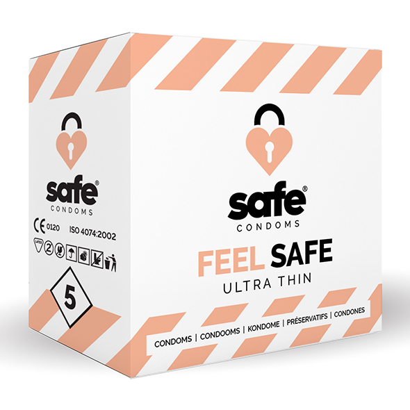 Safe - Feel Safe Condoms Ultra-Thin 5 pcs Online Sexshop Eroware Sexshop Sexspeeltjes