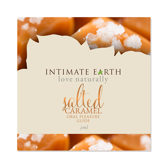 Intimate Earth - Oral Pleasure Glide Salted Caramel Foil 3 ml Online Sexshop Eroware Sexshop Sexspeeltjes