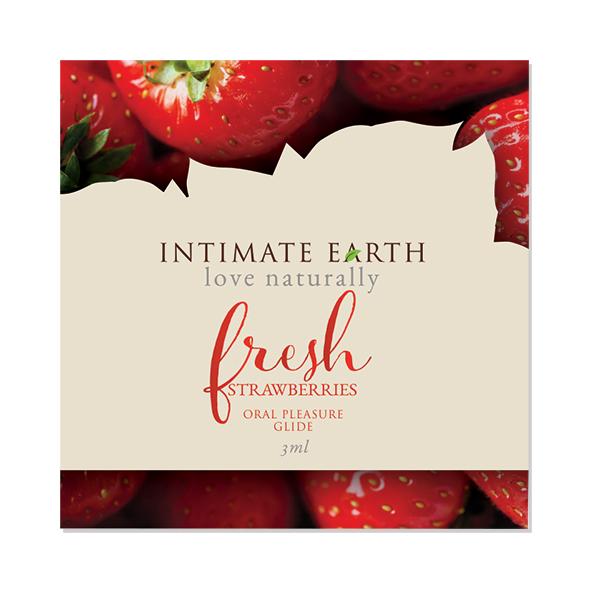 Intimate Earth - Oral Pleasure Glide Frisse Aardbeien Foil 3 ml Online Sexshop Eroware Sexshop Sexspeeltjes