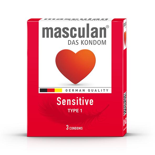 Masculan - Type 1 Sensitive (3 pc) 16 st. Online Sexshop Eroware Sexshop Sexspeeltjes