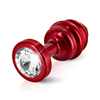 Diogol - Ano Butt Plug Ribbed Red 25 mm Sexshop Eroware -  Sexspeeltjes