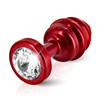 Diogol - Ano Butt Plug Ribbed Red 30 mm Sexshop Eroware -  Sexspeeltjes