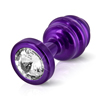 Diogol - Ano Butt Plug Ribbed Purple 30 mm Sexshop Eroware -  Sexartikelen