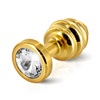 Diogol - Ano Butt Plug Ribbed Gold Plated 25 mm Sexshop Eroware -  Sexspeeltjes