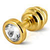 Diogol - Ano Butt Plug Ribbed Gold Plated 35 mm Sexshop Eroware -  Sexartikelen