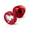 Diogol - Anni R Butt Plug Heart Red 25 mm Sexshop Eroware -  Sexspeeltjes
