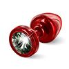 Diogol - Anni Butt Plug Round Red & Black 25 mm Sexshop Eroware -  Sexartikelen