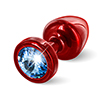 Diogol - Anni Butt Plug Round Red & Blue 25 mm Sexshop Eroware -  Sexspeeltjes