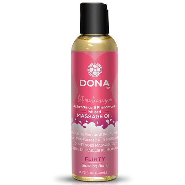 Dona - Scented Massage Olie Blushing Berry 110 ml Online Sexshop Eroware Sexshop Sexspeeltjes