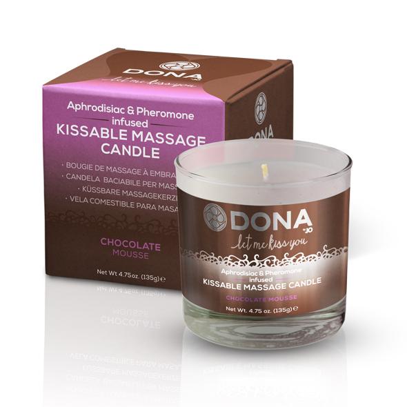 Dona - Kissable Massage Kaars Chocolade Mousse 135 gr Online Sexshop Eroware Sexshop Sexspeeltjes