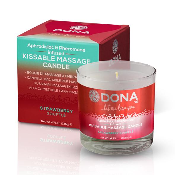 Dona - Kissable Massage Candle Strawberry Soufflé 135 gr Online Sexshop Eroware Sexshop Sexspeeltjes