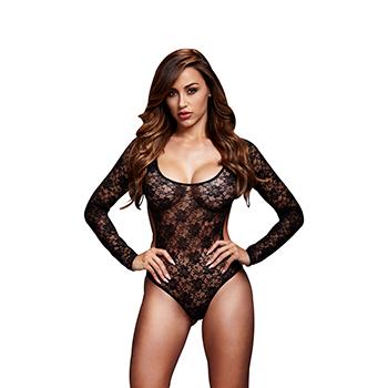 Baci - Zwarte Kanten Bodysuit Back Cutout One Size Online Sexshop Eroware Sexshop Sexspeeltjes