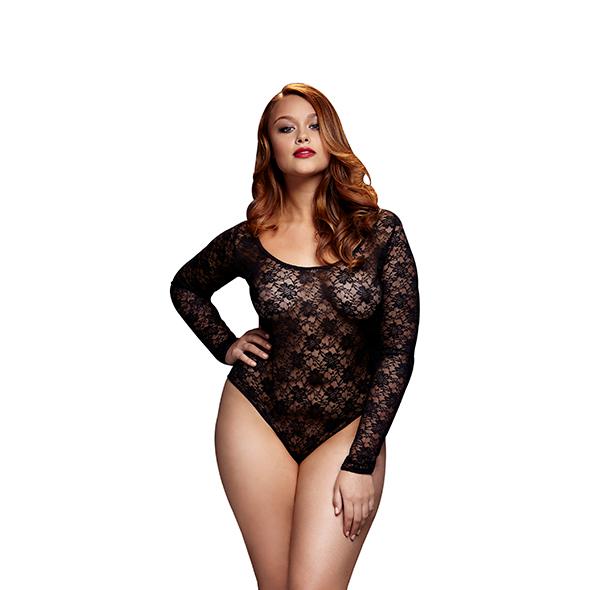 Baci - Zwarte Kanten Bodysuit Back Cutout Queen Size Online Sexshop Eroware Sexshop Sexspeeltjes