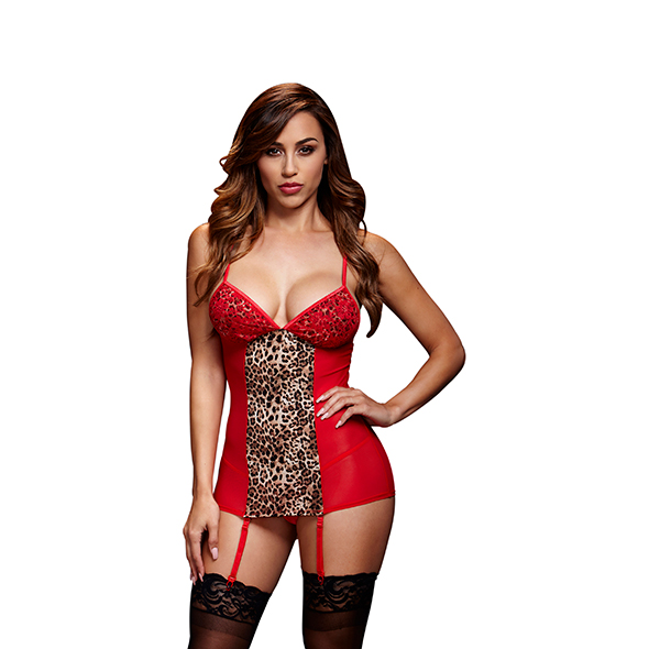 Baci - Red Basque & Garter Stays No Panty One Size Online Sexshop Eroware Sexshop Sexspeeltjes