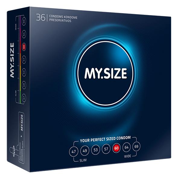 My Size - Natural Latex Condom 60 Width 36 pcs Online Sexshop Eroware Sexshop Sexspeeltjes