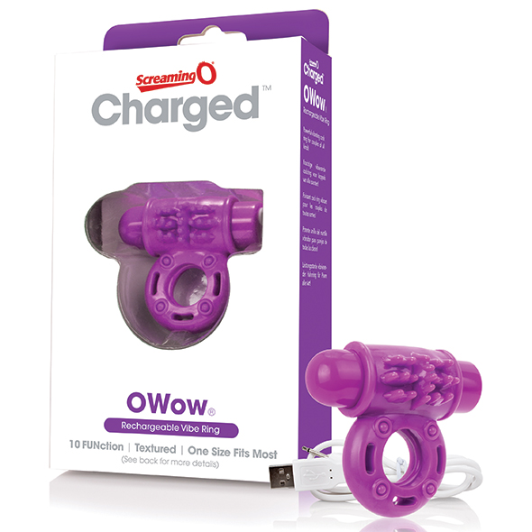 The Screaming O - Charged OWow Vibe Ring Purple Online Sexshop Eroware Sexshop Sexspeeltjes