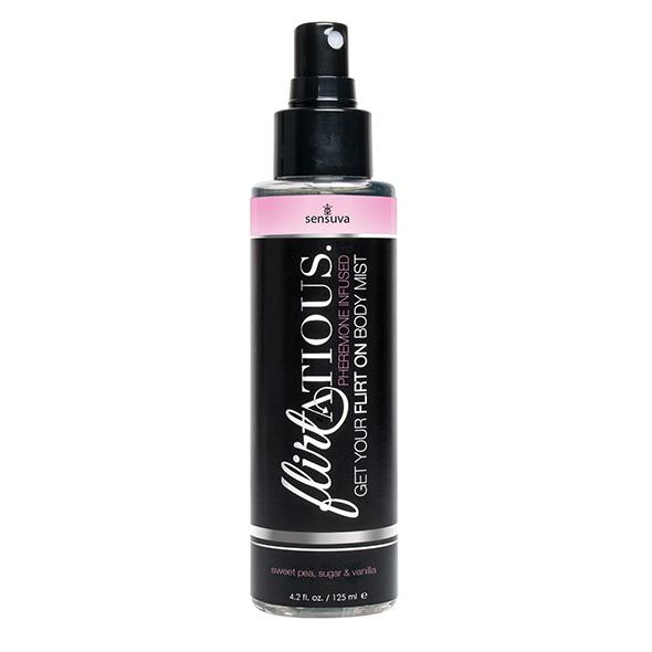 Sensuva - Flirtatious Pheromone Body Mist Vanilla, Sugar & Sweet Pea 125 ml Online Sexshop Eroware Sexshop Sexspeeltjes