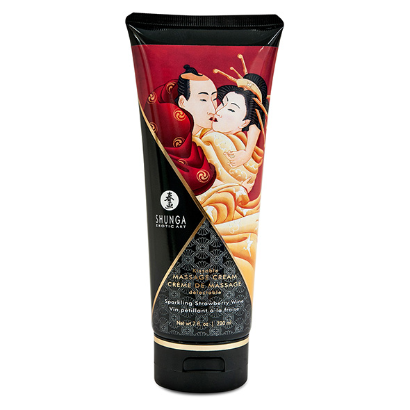 Shunga - Massage Cream Strawberry 200 ml Online Sexshop Eroware Sexshop Sexspeeltjes