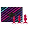 FeelzToys - Bibi Twin Butt Plug Set 3 st. Roze Sexshop Eroware -  Sexartikelen