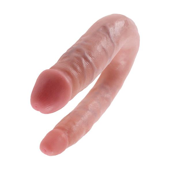 King Cock - U-Shaped Double Trouble Small Huidskleur Online Sexshop Eroware Sexshop Sexspeeltjes