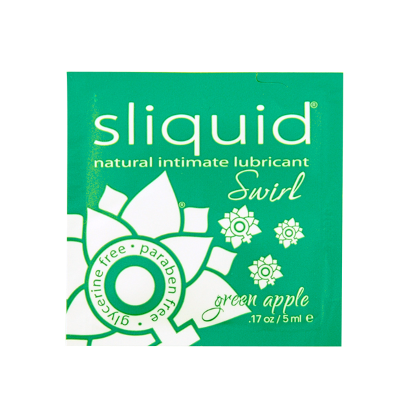 Sliquid - Naturals Swirl Lubricant Pillow Green Apple 5 ml Online Sexshop Eroware Sexshop Sexspeeltjes