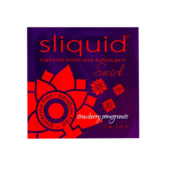 Sliquid - Naturals Swirl Lubricant Pillow Strawberry Pomegranate 5 ml Online Sexshop Eroware Sexshop Sexspeeltjes